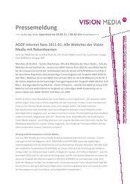Pressemeldung Pressemeldung - Vision Media GmbH