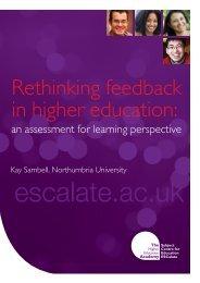 Rethinking Feedback In Higher Education - University of Cumbria