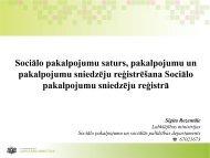 Sociālo pakalpojumu saturs, pakalpojumu un pakalpojumu ...