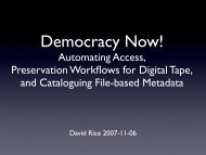 Automating Access, Preservation Workflows for Digital Tape, and ...