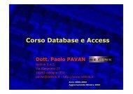 Manuale Access - Paolo PAVAN
