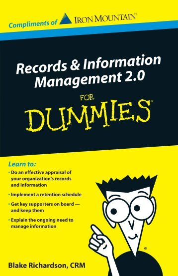 Records & Information Management 2.0 For Dummies - Iron Mountain