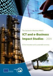 ICT and e-Business Impact Studies – 2009 - empirica