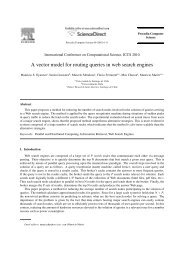 A vector model for routing queries in web search ... - ResearchGate
