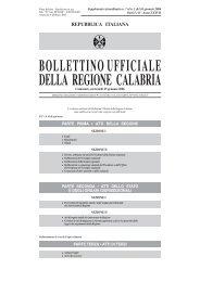 edizione straordinar - Consiglio regionale della Calabria