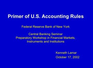 Introductory Accounting Class - Federal Reserve Bank of New York