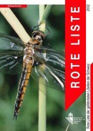 Rote Liste der gefährdeten Libellen der Schweiz 2002 - CSCF