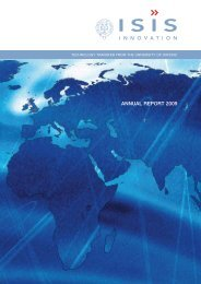 ANNUAL REPORT 2009 - Isis Innovation