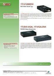 1T-DVI-VGA, 1T-VGA-DVI - VIDELCO