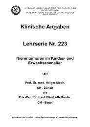Klinische Angaben Lehrserie Nr. 223 Nierentumoren ... - Iap-bonn.de