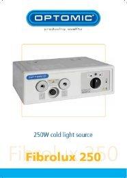 fibrolux 250 cold light source operating manual - Elmed