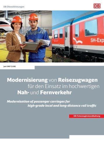 Modernisierung von Reisezugwagen für den Einsatz im ...