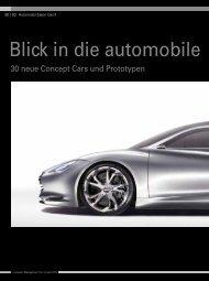 Blick in die automobile Zukunft - KMU-Magazin