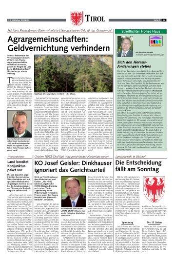 Agrargemeinschaften - Tiroler Bauernbund
