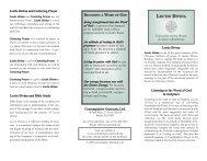 Lectio Divina pamphlet - Contemplative Outreach