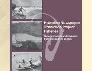 Hawaiian Newspaper Translation Project - Sea Grant College ...