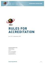 RULES FOR ACCREDITATION - International Biathlon Union