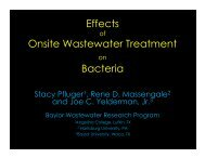 Effects Onsite Wastewater Treatment Bacteria - Texas Onsite ...