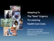 Susan Dentzer - A New Era in American Health Care - MAHP