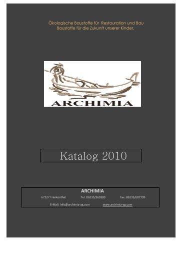 Katalog 2010 - Archimia-ag.com
