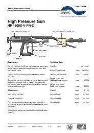 High Pressure Gun - HP 1500-V-PN-Z - Woma
