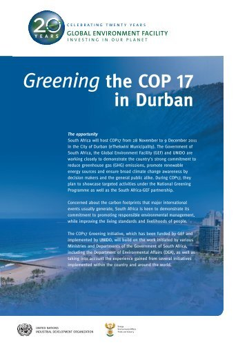 Greening COP 17 Brochure Overview