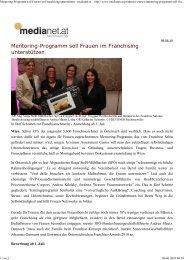 Mentoring-Programm soll Fra... - Frauen im Franchising