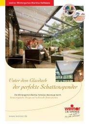 Die Wintergarten-Markise als perfekter Schattenspende - Haller ...