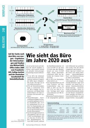 Wie sieht das Büro im Jahre 2020 aus? - Franke & Partner - Sozietät ...