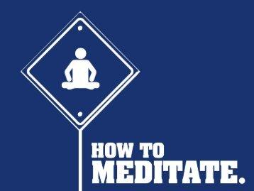How to Meditate - Unilife