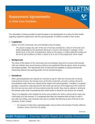 Repayment Agreements for Child Care Facilities - Fraser Health ...