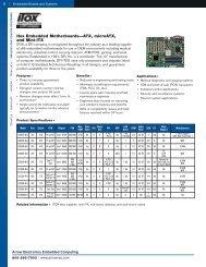 Itox Embedded Motherboards—ATX, microATX ... - Arrow Electronics