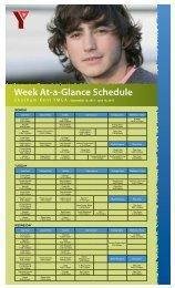 Week At-a-Glance Schedule - YMCAs