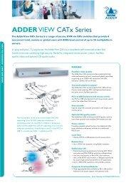 ADDERVIEW CATx Series - VIDELCO