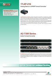 Format Converters without Scaling 1T-AP-216 A2-7300 ... - VIDELCO