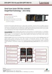 Small form factor DVI fiber extender ... - VIDELCO