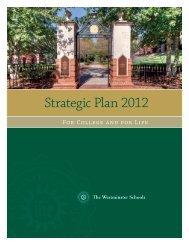 Strategic Plan 2012 - The Westminster Schools