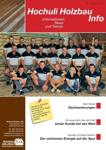 Hochuli Holzbau Info - Hochuli Holzbau AG