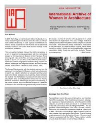 International Archive of Women in Architecture - Special Collections