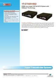 Signal Transmission Systems 1T-CT-651/652 - VIDELCO