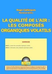 LA QUALITÉ DE L'AIR : LES COMPOSÉS ORGANIQUES VOLATILS
