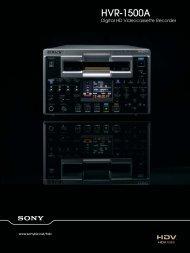 HVR-1500A - Videocation