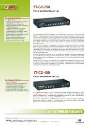 Video Switcher/Scalers 1T-C2-250  1T-C2-400 - VIDELCO