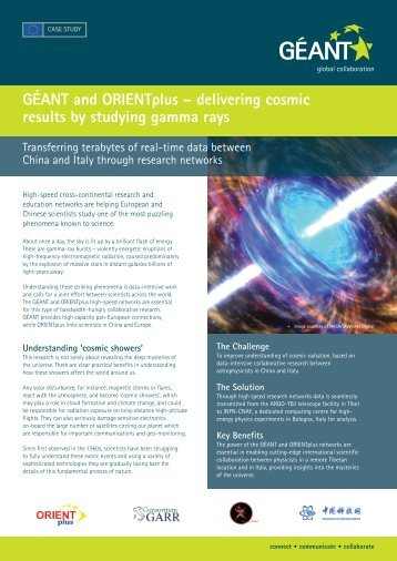 delivering cosmic results by studying gamma rays - Géant