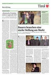 Bauern brauchen eine starke Stellung am Markt - Tiroler Bauernbund