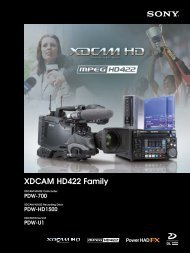 XDCAM HD422 Family