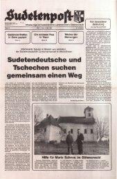 Sudetendeutsche und Tschechen suchen ... - Sudetenpost