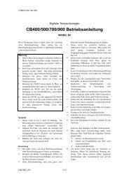 CB400/500/700/900 Betriebsanleitung