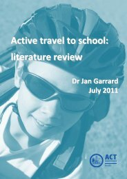 Active travel to school: literature review - Community Engagement ...