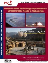 OctOber 27-28, 2010 - Precision Strike Association